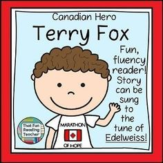 Terry Fox: The story of Canadian Hero, Terry Fox, told in song. A Canadian teaching resource for kindergarten and primary students with bonus printables. Teaching Resources, Teaching Ideas, Classroom Resources, School Resources, Seeing Quotes, First Grade Lessons, Thing 1, Common Core Reading, Stories For Kids