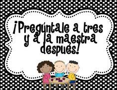 Ask Three Before Me Freebie Poster English/Spanish