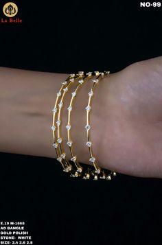 Plain Gold Bangles, Gold Bangles Design, Wedding Jewellery Designs, Bridal Jewelry, Gold Mangalsutra Designs, Real Gold Jewelry, Jewelry Design Earrings, Diamond Jewellery, Diamond Earrings