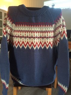 Strikket i Merinoull extra fine. Christmas Sweaters, Diy And Crafts, Pullover, Fashion, Moda, La Mode, Sweater, Fasion, Sweaters