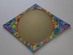 miroir en carton : losange Home Decor, Diamond Pattern, Mirror, Decoration Home, Room Decor, Home Interior Design, Home Decoration, Interior Design