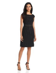 Adrianna Papell Women's Crepe With Lace Inserts « Clothing Adds Anytime