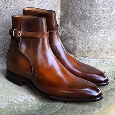 Carlos Santos Jodhpur boots in Algarve Patina on 160 last, in stock #jodhpur #algarve #patina #carlossantosshoes #afinepairofshoes #afpos #mensboots #menstyles #mensfashion #goodyearwelted