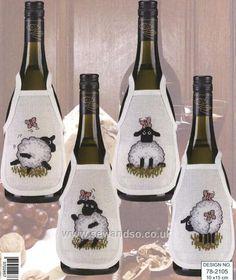 Sheep Antics Wine Bibs