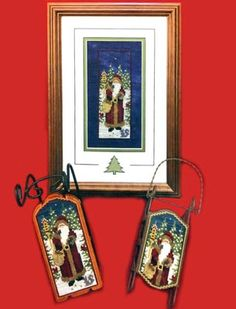 See the pretty Sled Ornament - Morning Star Santa (cross stitch) at Nordic Needle