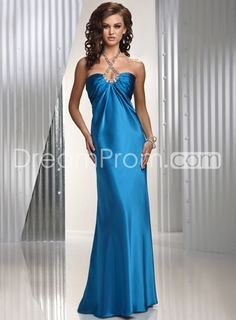 P4417 Column Floor-length Halter Prom Dress : this dress with the following shoes :)