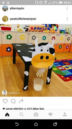 cows Milking the cow act . Milking the cow activity cows Milking the cow activity - Farm Crafts, Preschool Activities, Art For Kids, Crafts For Kids, Milk The Cow, Dramatic Play Centers, Farm Theme, Art N Craft, Animal Crafts