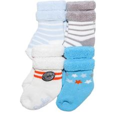 Child of Mine by Carter's Newborn Baby Boy 4-Pack Terry Tip Socks, 0-3M - Walmart.com