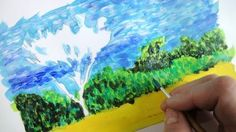 Look at impressionistic styles with the brush, and then paint a landscape photo using the students' own styles of impressionism.