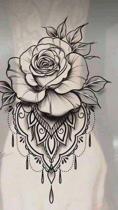 Fantastic (no title - Tattoo Zeichnungen - Tattoo Femeninos, Rose Tattoo Forearm, Flower Wrist Tattoos, Lace Tattoo, Flower Tattoo Designs, Tattoo Fonts, Body Art Tattoos, Small Tattoos, Hot Tattoos