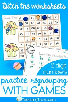 Two digit subtraction with regrouping can be so much fun with games. Perfect for centers and small groups, your 2nd grade students are going to love learning to regroup with these subtraction games. #mathgames #subtractionregrouping  via @Teaching Trove