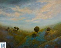 Azure Blankets, original oils on canvas by Jesus F. Moreno