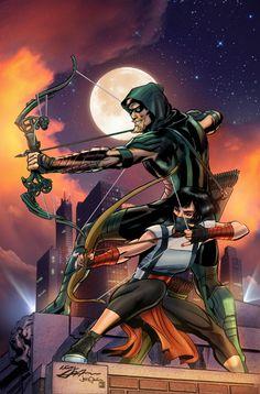 Green Arrow Rebirth #6 Cover Comic Art