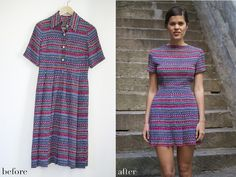 Before & After: DIY tribal printed mini dress.