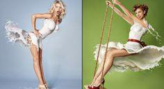 Models wearing high speed milk