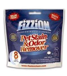 Fizzion Concentrated Cleaner 8 Tablet Value Pack Bag Pet Stain and Odor Remover >>> To view further for this item, visit the image link. (This is an affiliate link and I receive a commission for the sales)