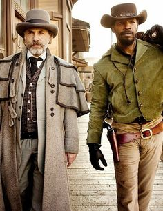 "Christoph Waltz & Jamie Foxx in ""Django Unchained"" - 2012 (Quentin Tarantino) costume designer, Sharen Davis Django Unchained, Pulp Fiction, Jackie Brown, Love Movie, Movie Tv, Movie Scene, Kevin Costner, Martin Scorsese, Inglourious Basterds"