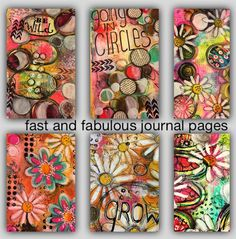 Tutor Tracy Scott In this class we will be using a variety of techniques and mediums to create bright and beautiful journal pages We will be using