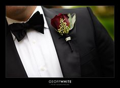 Groomsmen or Best Man: with white rose - NO greens