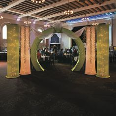 Create an elegant look with a White Fabric Column Slip for your event.