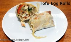 The Kitchen Canister: Tofu Egg Rolls It's Monday, Kitchen Canisters, Egg Rolls, Tofu, Eggs, Ethnic Recipes, Kitchen Jars, Egg, Spring Rolls