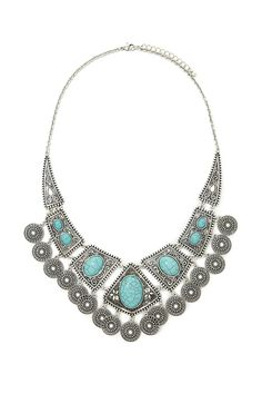 Faux Stone Statement Necklace #accessorize