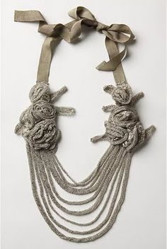 anthropologie ribbon necklace