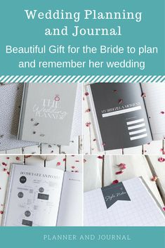 A Modern Wedding Planner And Notebook Perfect Engagement Gift To Help The Bride Stay On