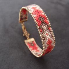 Bracelet brésilien perlé couleurs d'automne