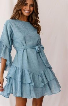 Spring Dresses Casual, Trendy Dresses, Fall Dresses, Women's Fashion Dresses, Casual Dresses For Women, Sexy Dresses, Dress Outfits, Elegant Dresses, Party Dresses