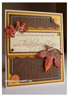 Bold falling Leaves Card