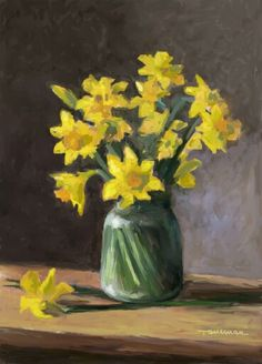 Daffodils Daffodils, Glass Vase, Floral Paintings, Decor, Craft, Painting Art, Decoration, Decorating, Deco