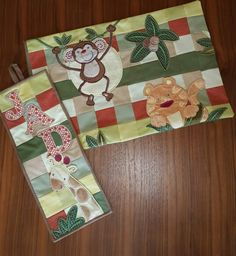 Patchwork Pillow case and door hanging, a nice set for a baby boy