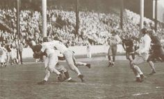 1942 Idaho-Oregon football game at Hayward Field.  From the 1943 Oregana (University of Oregon yearbook).  www.CampusAttic.com