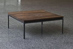 A bit low but beautiful metal and wood table