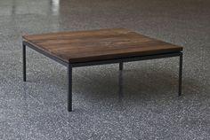 Walnut & Angle Iron Coffee Table - Imgur