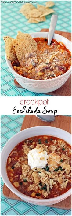 A hearty Tex-Mex inspired soup that's like a warm, spicy delicious hug in a bowl! cinnamonspiceandeverythingnice.com