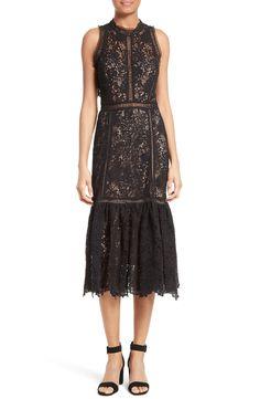 New REBECCA TAYLOR Arella Lace Midi Dress fashion online. [$875]?@shop hoodress<<
