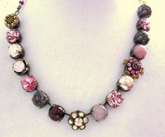 NEW Swarovski crystal choker SWEETEST ROMANCE 11mm by siggysbeads, $85.00