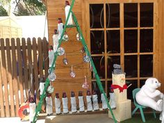 Vianocne stromcek z rebrika  Christmas tree from ladder....