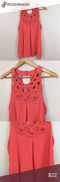 "Maurices Coral Tank Top Tanks: GUC - Maurices / under arm to arm: 19"" L: 26"" Maurices Tops"