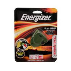 Energizer Trail Finder Dual Mode 3-LED Cap Light Features: - 3-LEDs 2 White or 1 Red - Water Resistant - Clips above brim - Easy push-button switch - Adjustable clip