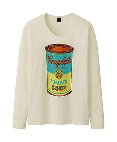 MEN ANDY WARHOL GRAPHIC LONG SLEEVE T SHIRT