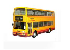 Leyland Olympian Diecast Model Bus by BritBus R602 This Leyland Olympian Diecast Model Bus is Yellow and features working wheels. It is made by BritBus and is 1:76 scale (approx. 12cm / 4.7in long). #BritBus #ModelBus #Leyland #MiniModelBuses
