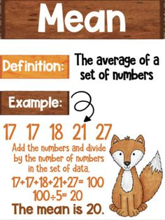 Data Analysis Math Posters mean, median, mode, range Woodland Animal Theme Reading Genre Posters, Reading Genres, Mean Median And Mode, Commonly Confused Words, Woodland Animals Theme, Types Of Sentences, Math Poster, Figurative Language, Teaching Math