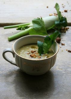 Celery roasted soup