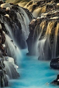 Bruarfoss, #Iceland- #Waterfall