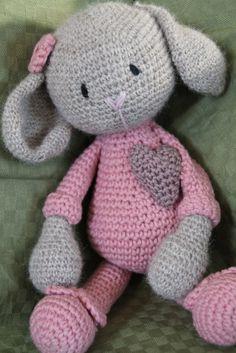 Adorable crocheted rabbit