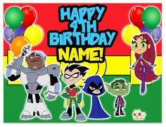 Teen Titan Go Frosting Sheet Edible Image by LovelyToppers on Etsy, $9.00
