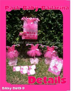 DETAILS SOUVENIRS FACEBOOK PACK Para Baby shower temático bailarina